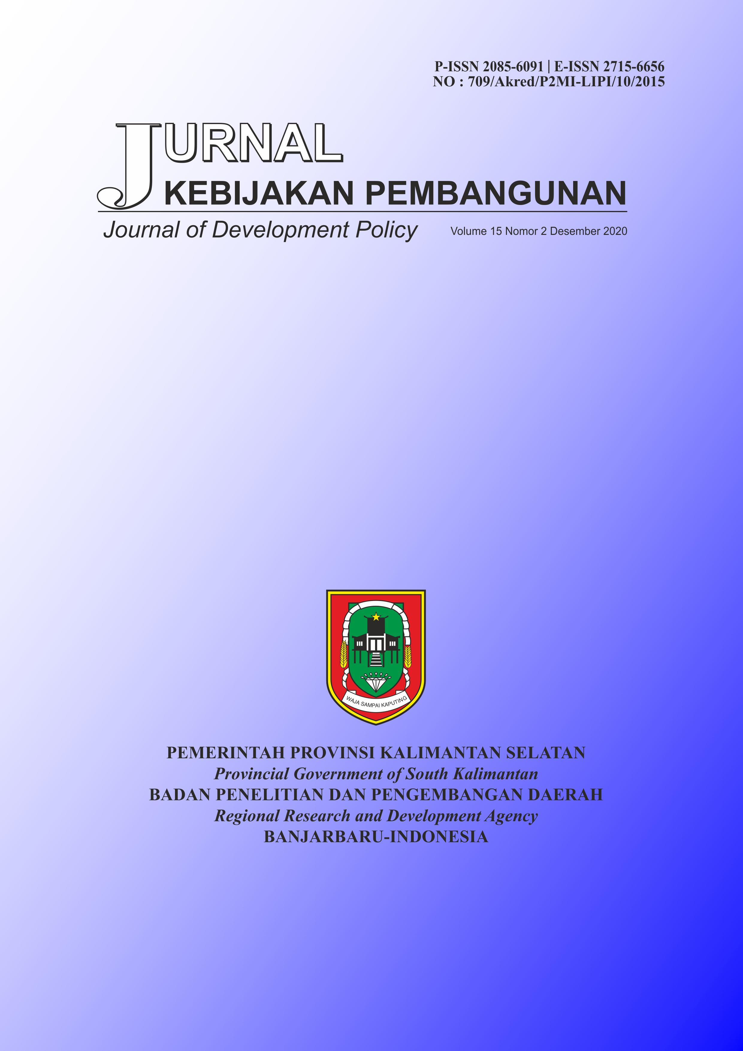 Jurnal Kebijakan Pembangunan